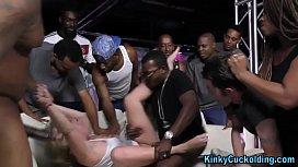 Gang banged cuckolding ho
