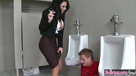 Naughty teacher (Mason Moore) fucks student in the bathroom for smoking - Twistys