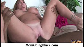 Mom with monster tits fucks a black cock 12