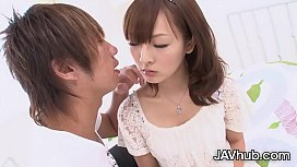 JAVHUB Adorable Miku Fujii has her tight pussy pounded