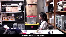 Petite Young Asian Girl Jasmine Grey Caught Stealing Multiple Items Makes Sex Deal With Mall Officer