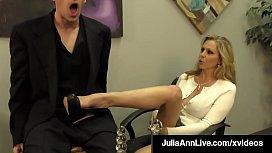 Put Your Head Against Busty Mommy Julia Ann As She Milks You