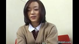 Cute asian schoolgirl upskirt video