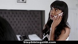 Ebony Stepsisters Loni Legend &amp_ Jenna J Foxx Take Turns To Fuck Lucky Blind Date