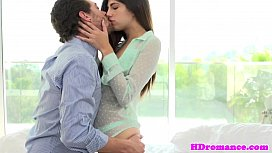 Gorgeous young couple steaming session