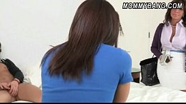 Stepmom Tara Holiday caught Mischa Brooks in doggystyle