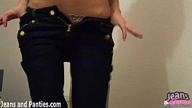 Watch me shake my tight ass in these tiny jeans