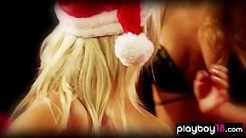 Classy lesbian babe sensual massage her hot girlfriend