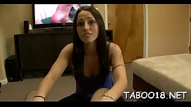 Spicy blonde teen enoys giving a carnal oral-stimulation and handjob