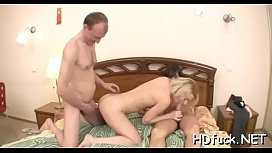 Hot vehement playgirl shows off her exquisite blowjob skills
