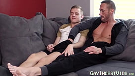 Daddy teased by playful twink into barebacking him hardcore