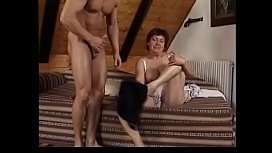 Horny dude lost his mess on hairy bush of mature chubby darkhaired womam  Hana living next door after banging her cunt