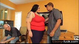 SSBBW Anastasia Fucks Hubbys Friend while he is  - ebony-fuck.com