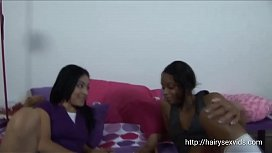 Hot Ladies Satisfying Themselves With Brutal Dildo