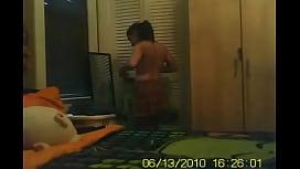 Hidden Spycam Cam in Shower  Dressing