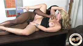 White couple dominated by huge black master
