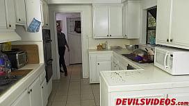 Dirty Erica Lauren fucks in the kitchen