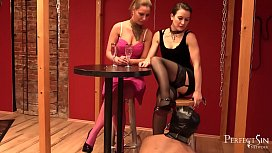 Mistress Love Part 1 - Miss Flora and Lady Deluxe Are Kissing and Dominate Slave
