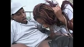 Lusty ebony nurse Sexy Girl gets pounded by a black stud during her break