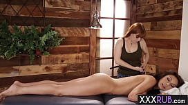 Hot redhead MILF massage sexy brunette small tits babe