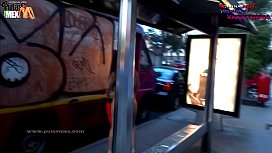 New! Super EXTREME Danna HOT Totally naked along Avenues of Mexico City