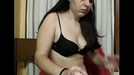 Girl is exhibited on the webcam part2
