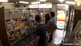 Japanese woman, Yukina Aizawa got fucked in the shop, uncensored
