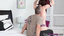 Teen slut has taboo sex