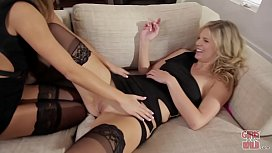 GIRLS GONE WILD - Simone and Shelby Have Some Fun While Candace Sleeps