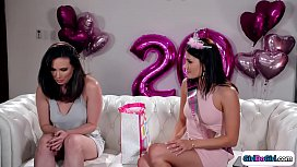 Bdaygirl uses strapon gift on her friend