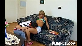 Donga sucking action by dirty blonde Katerina