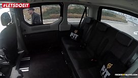 LETSDOEIT - Horny Milf Cums All Over the Taxi Drivers Back Seat