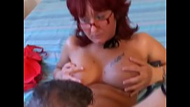 Redhead babe Monica enjoys getting her pussy bumped and then fucked hard