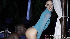 Dazzling Lyen Parker oralled before interracial anal