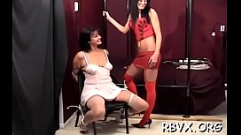 Miniature teen gets her pussy examined whilst being restrained