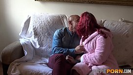 Erika the redhead MILF loves being pierced by her big dicked husband
