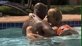 Nat Turnher &amp_ Krissy Lynn Interracial Pool and Basketball Sex