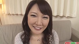 Hinata Komine gets stiff toys in her mature pussy and ass - More at Japanesemamas com