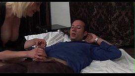 stepson caughts his stepmom masturbating