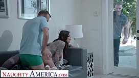 Naughty America Karma Rx gets bullied into sucking and fucking