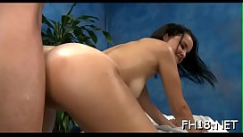 Slim teen beauty gets mouth and pussy screwed well