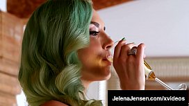 Long Legged Amazon Jelena Jensen In Green Hair &amp_ Lingerie!