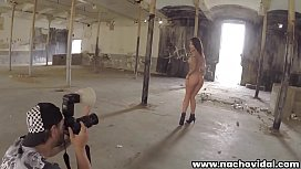 In an abandoned warehouse, Nacho Vidal takes pictures of Nikita naked and in heels. She receives an exquisite blowjob and her face radiates joy. He fucks her hard and takes her arms.