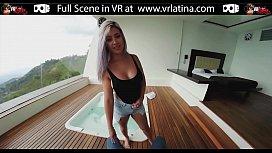 VRLatina.com - Big Blonde Tits in VR 5K!