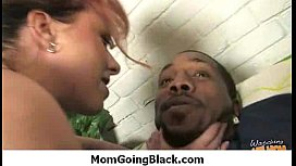Busty mom milf rides black monster cock 22