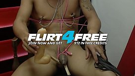j. Black - Flirt4Free - Latino Hottie Enjoys BDSM and Hot Wax t.
