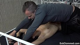 Canned sub babe getting her cunt drilled