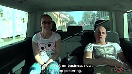 Mea Melone eat cum from Wendy Moon'_s pussy after wild in car fuck