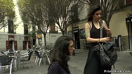 Innocent euro babe whipped in public