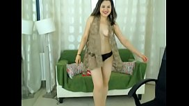 LittleTeenBB Riley dances in mini skirt, then strips to her underwear, before showing her tits